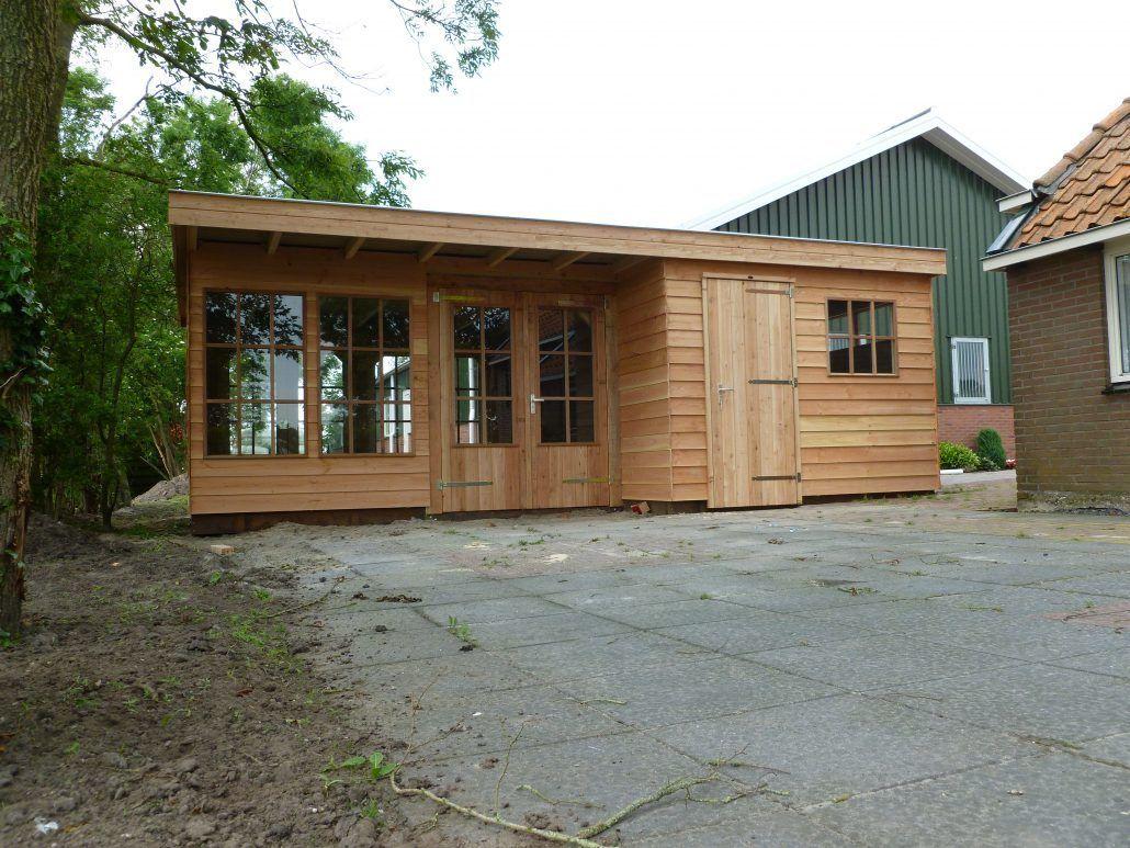 Berging tuin douglas houten berging van de tuinxpo for Mobiele woning in de tuin